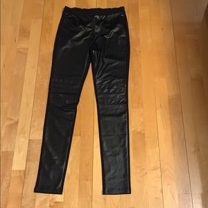 🔥2 for 20$🔥Simon Chang faux leather front leggin